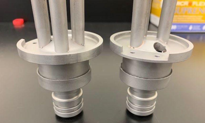 Ambrell感应加热器钎焊航空喷嘴组件