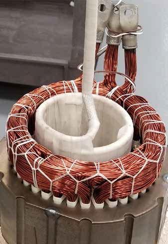 Ambrell感应加热器在电动汽车行业的应用-加热叠片和铜线使清漆,蜡或环氧树脂获得更好的流动性以填充空隙