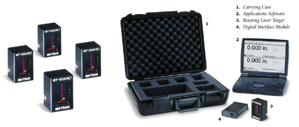 美国ON-TRAK, OT-5000,平面度, 方正度, 直线度, 激光测量仪, 垂直仪, 垂直度偏差测定仪, 平整仪, 对中仪,