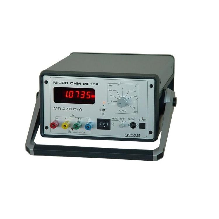 MR270C-A微欧姆计 专为电缆行业应用和电感性负载(变压器,电动机)中的电阻测量而设计 微欧姆计 微电阻计直流微欧姆计高精度低电阻计 直流低电阻仪 微欧姆计