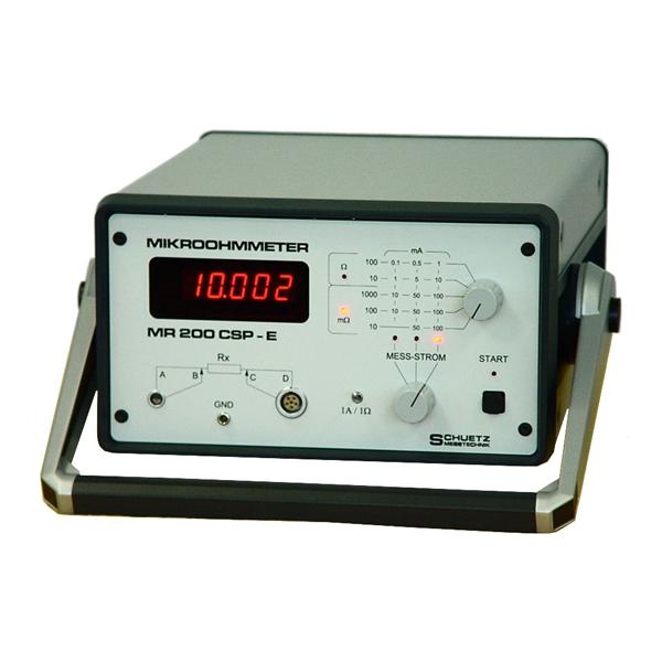 SCHUETZ  MR 200 CSP–E微欧姆计是一种特殊设计,用于高精度测量导电连接(粘接),导电 特别是在航空航天工业中使用的层、电缆、插头和类似的测试物体