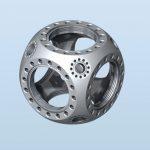 Kimball Physics Multi-CF™ 4.50英寸球形立方体-真空室 MCF450-SphCube-E6A8 真空腔