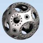 Kimball Physics Multi-CF™ 4.50英寸球形立方体(扩展版)-真空室 MCF450-SphCube-E6C8A12 真空腔