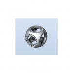 """Kimball MCF450-SphCube-E6 4.50"""" 球形六边形真空腔 真空腔,真空室,小型真空腔,真空腔体,超高真空腔,多孔真空腔,真空系统"""